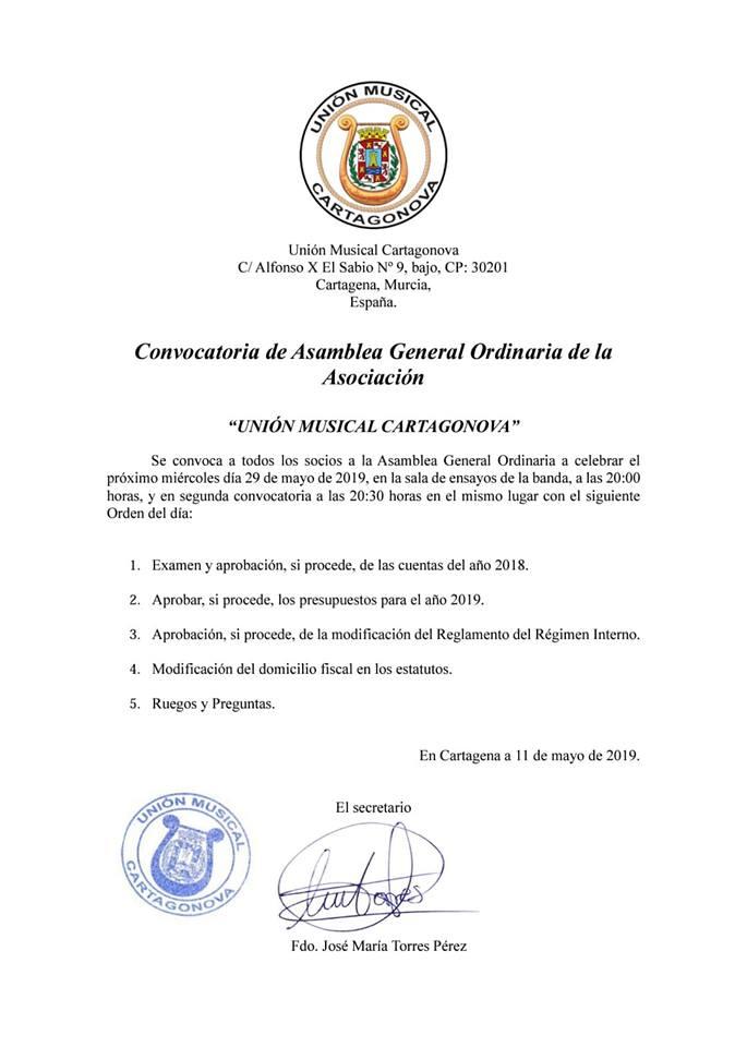 Asamblea General Ordinaroa 2019